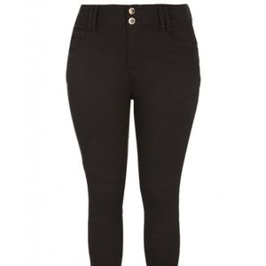 City Chic High-Waisted Skinny Jeans (Short)